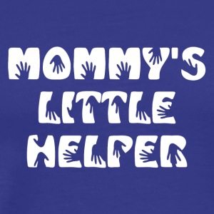 Mommy's Little Helper White Text - Men's Premium T-Shirt