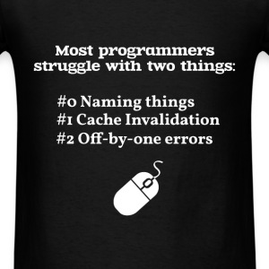 Programmer - Most programmers struggle with two th - Men's T-Shirt