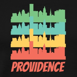 Retro Providence RI Skyline Pop Art - Men's Premium T-Shirt