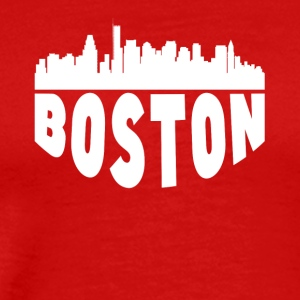 Boston MA Cityscape Skyline - Men's Premium T-Shirt