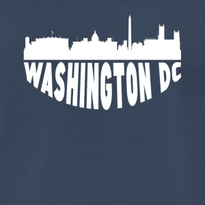 Washington DC Cityscape Skyline - Men's Premium T-Shirt