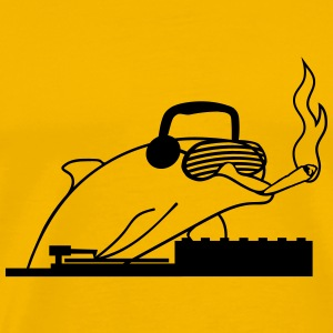 Dj, headphones, joint, smoking, drugs, kiffen, coo T-Shirts - Men's Premium T-Shirt