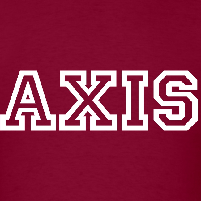 Axis Tee with College Block White Text