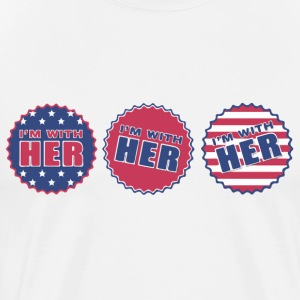 I'm with Her! - Men's Premium T-Shirt