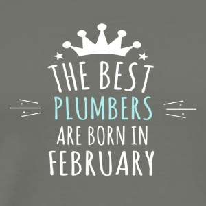 Best PLUMBERS are born in february - Men's Premium T-Shirt