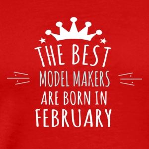 Best MODEL_MAKERS are born in february - Men's Premium T-Shirt