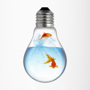 LightBulb Gold Fish M Mugs & Drinkware - Travel Mug