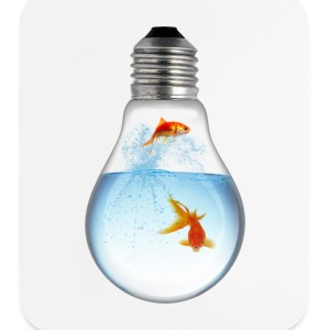LightBulb Gold Fish M Other - Mouse pad Vertical
