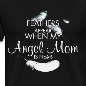 Angel Mom, Mom Feathers - Men's Premium T-Shirt