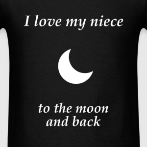 Niece - I love my niece to the moon and back - Men's T-Shirt