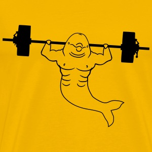 Weight lifting dumbbells bodybuilder muscles stron T-Shirts - Men's Premium T-Shirt