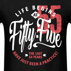 Life Begins at 55 | 55th Birthday - Men's T-Shirt