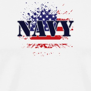 NAVY & FLAG - Men's Premium T-Shirt
