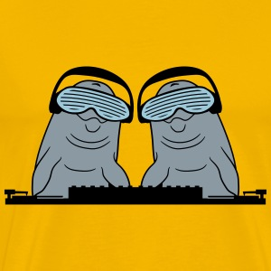 Duo team 2 friends dj party music hang up disc dis T-Shirts - Men's Premium T-Shirt