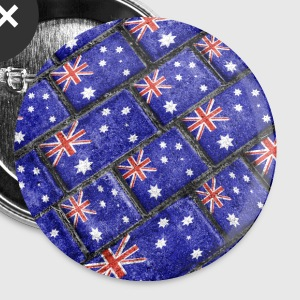 Australian Flag Grunge Pattern - Small Buttons
