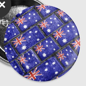 Australian Flag Grunge Pattern - Large Buttons