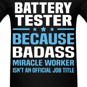 Battery Tester Tshirt - Men's T-Shirt