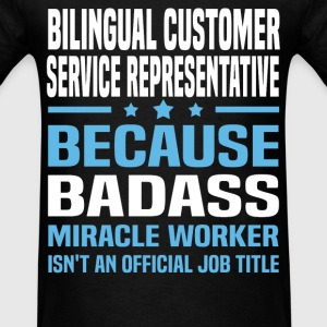 Bilingual Customer Service Representative Tshirt - Men's T-Shirt