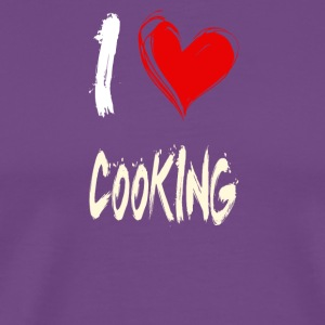 I love COOKING - Men's Premium T-Shirt