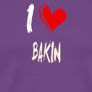 I love BAKING - Men's Premium T-Shirt