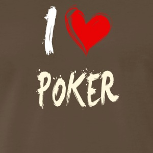 I love POKER - Men's Premium T-Shirt