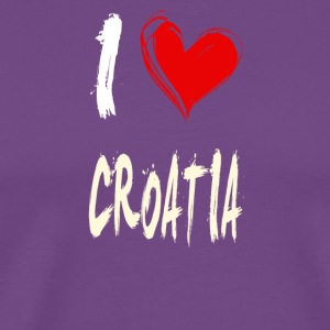 I love CROATIA - Men's Premium T-Shirt