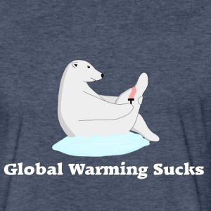 Global warming Sucks - Fitted Cotton/Poly T-Shirt by Next Level