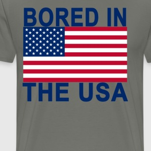 bored_in_the_usa_ - Men's Premium T-Shirt