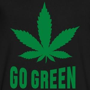 Weed Go Green T-Shirts - Men's V-Neck T-Shirt by Canvas