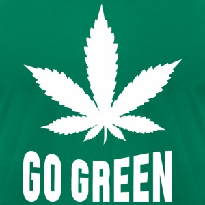 Weed Go Green T-Shirts - Men's T-Shirt by American Apparel