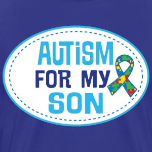 Autism Awareness For My Son Puzzle Ribbon T-Shirts - Men's Premium T-Shirt