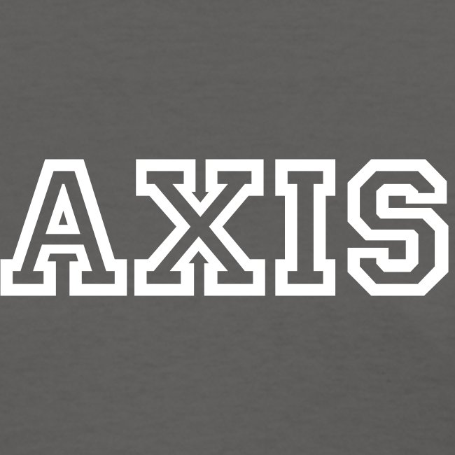 Axis Tee with College Block White Text (Women's)