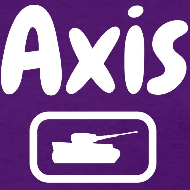 Axis Tank T-shirt with Stylized White Text (Women's)