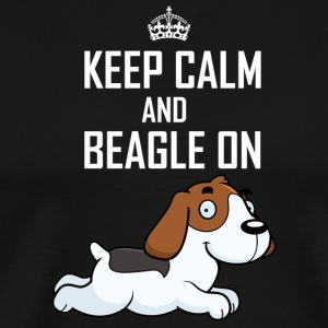 Beagle on - Men's Premium T-Shirt