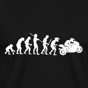 Motorcycle Rider Evolution Racing Supersport - Men's Premium T-Shirt