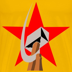 hammer and sickle in star - Men's Premium T-Shirt