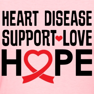 Heart Disease Support Red Ribbon Awareness T-Shirts - Women's T-Shirt