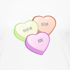 CONVERSATION HEARTS Long Sleeve Shirts - Women's Premium Long Sleeve T-Shirt