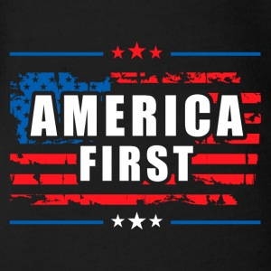 America First - President Donald Trump - Patriot Baby Bodysuits - Short Sleeve Baby Bodysuit