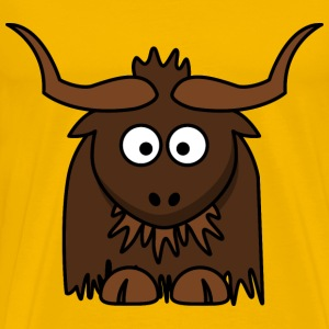 Cartoon Yak - Men's Premium T-Shirt