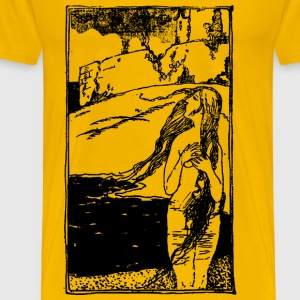 Naked Lady and Castle - Men's Premium T-Shirt