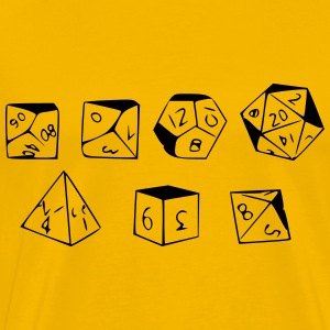 RPG Dice - Men's Premium T-Shirt