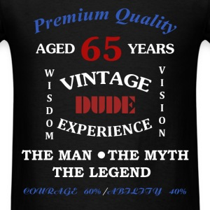 65th Birthday - Premium Quality. Aged 65 years. Wi - Men's T-Shirt
