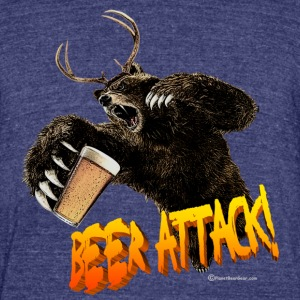 BEER ATTACK! Unisex Tri-Blend T-Shirt - Unisex Tri-Blend T-Shirt by American Apparel