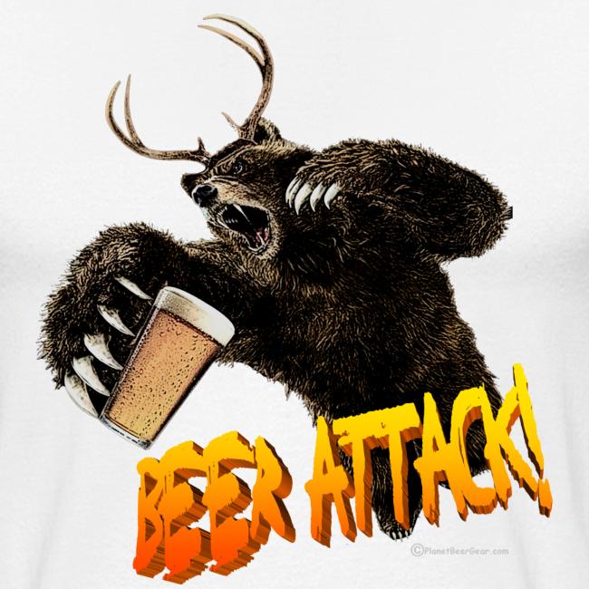 BEER ATTACK! Baseball T-Shirt