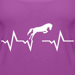 Horse heartbeat Tanks - Women's Premium Tank Top