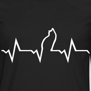 Cat Heartbeat Long Sleeve Shirts - Men's Premium Long Sleeve T-Shirt