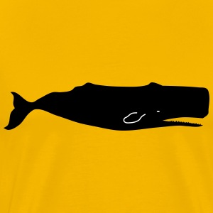 Sperm whale by Rones - Men's Premium T-Shirt