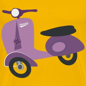Purple Vespa scooter - Men's Premium T-Shirt