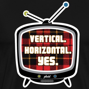 Plaid TV - Men's Premium T-Shirt